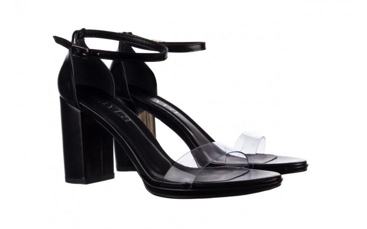 Sandały bayla-187 587-571 czarny, skóra ekologiczna  - na słupku - czółenka - buty damskie - kobieta 1