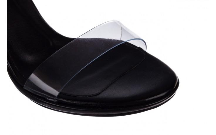 Sandały bayla-187 587-571 czarny, skóra ekologiczna  - na słupku - czółenka - buty damskie - kobieta 6