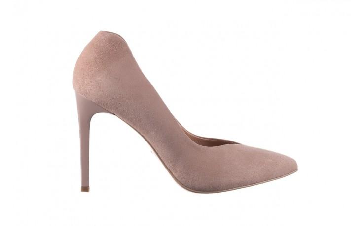 Szpilki bayla-056 9174-140 beż zamsz, skóra naturalna  - zamszowe - szpilki - buty damskie - kobieta