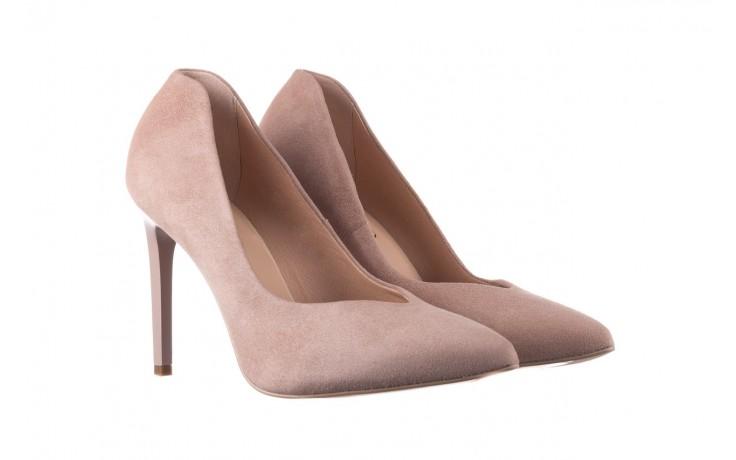 Szpilki bayla-056 9174-140 beż zamsz, skóra naturalna  - zamszowe - szpilki - buty damskie - kobieta 1