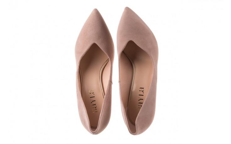 Szpilki bayla-056 9174-140 beż zamsz, skóra naturalna  - zamszowe - szpilki - buty damskie - kobieta 4