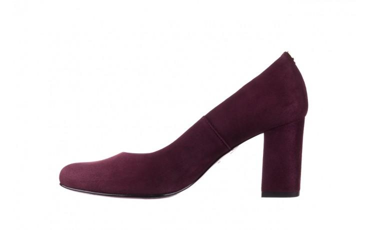 Czółenka bayla-056 9214-1321 fiolet zamsz 20, skóra naturalna  - na słupku - czółenka - buty damskie - kobieta 2