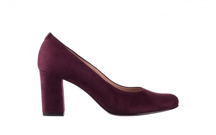 Czółenka bayla-056 9214-1321 fiolet zamsz 20, skóra naturalna  - na słupku - czółenka - buty damskie - kobieta