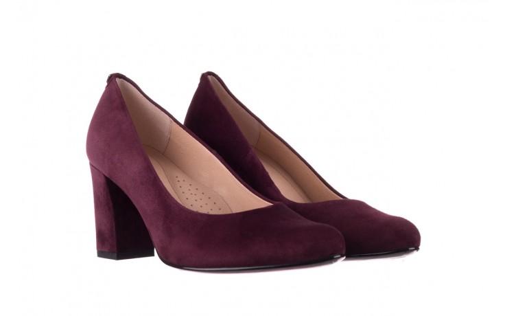 Czółenka bayla-056 9214-1321 fiolet zamsz 20, skóra naturalna  - na słupku - czółenka - buty damskie - kobieta 1