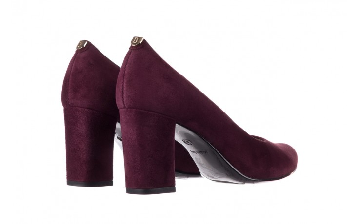 Czółenka bayla-056 9214-1321 fiolet zamsz, skóra naturalna - zamszowe - szpilki - buty damskie - kobieta 3