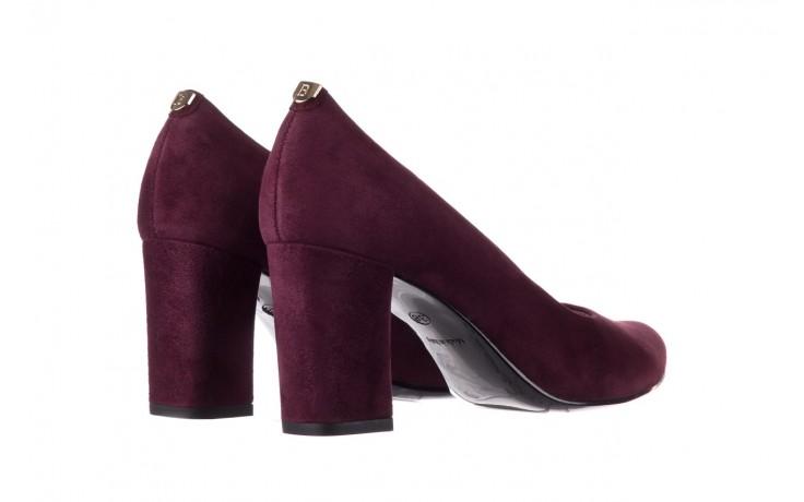 Czółenka bayla-056 9214-1321 fiolet zamsz 20, skóra naturalna  - na słupku - czółenka - buty damskie - kobieta 3