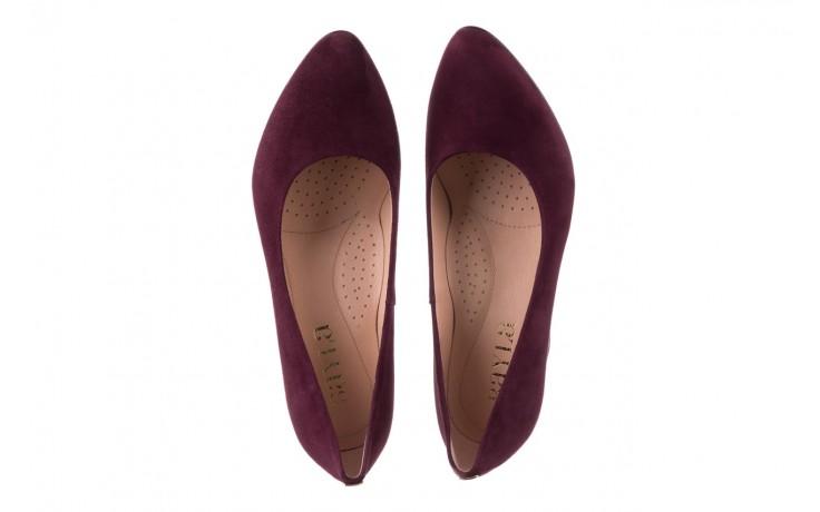 Czółenka bayla-056 9214-1321 fiolet zamsz 20, skóra naturalna  - na słupku - czółenka - buty damskie - kobieta 4