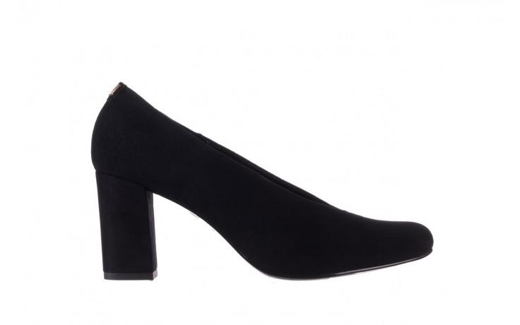 Czółenka bayla-056 9227-21 czarny zamsz, skóra naturalna - na słupku - czółenka - buty damskie - kobieta
