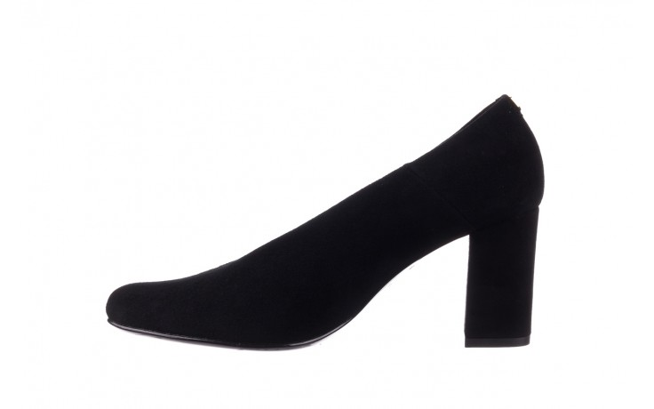 Czółenka bayla-056 9227-21 czarny zamsz, skóra naturalna - na słupku - czółenka - buty damskie - kobieta 2