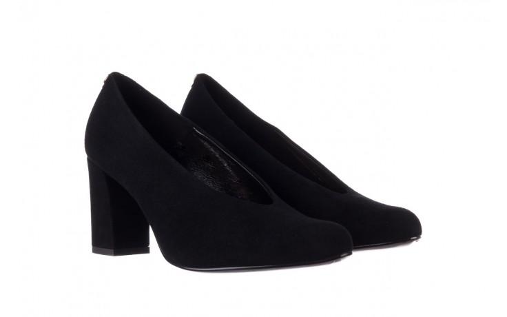 Czółenka bayla-056 9227-21 czarny zamsz, skóra naturalna - na słupku - czółenka - buty damskie - kobieta 1