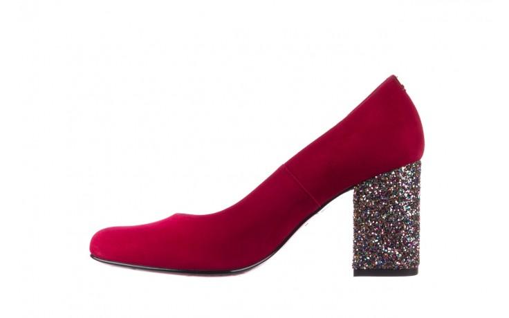 Czółenka bayla-056 7063-1432 bordo glitter, skóra naturalna  - do szpica - szpilki - buty damskie - kobieta 2