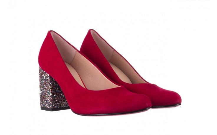 Czółenka bayla-056 7063-1432 bordo glitter, skóra naturalna  - do szpica - szpilki - buty damskie - kobieta 1