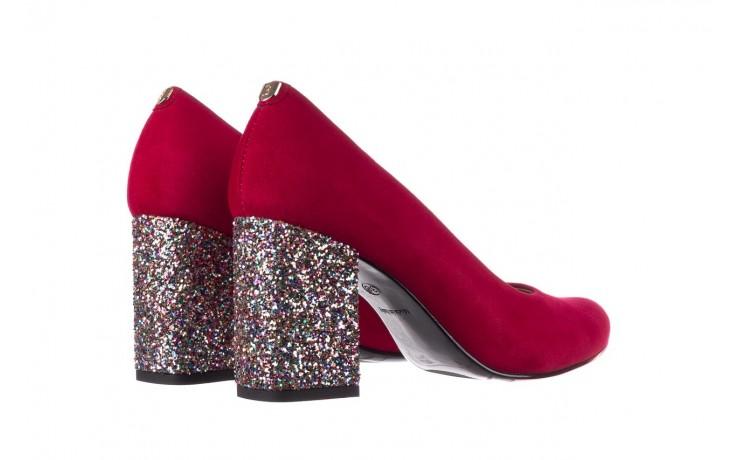 Czółenka bayla-056 7063-1432 bordo glitter, skóra naturalna  - do szpica - szpilki - buty damskie - kobieta 3