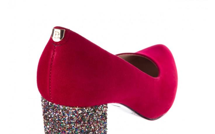 Czółenka bayla-056 7063-1432 bordo glitter, skóra naturalna  - do szpica - szpilki - buty damskie - kobieta 5