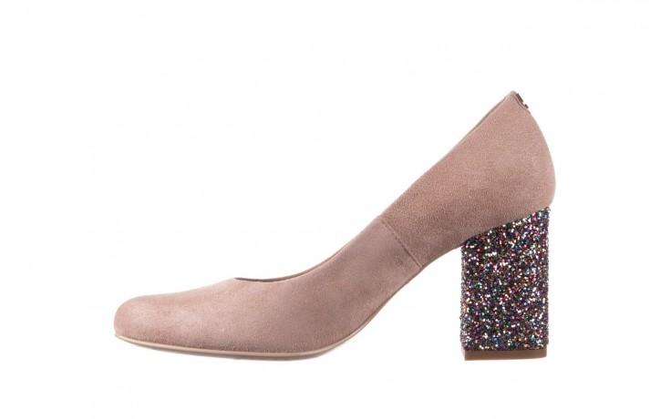 Czółenka bayla-056 7063-140 beż glitter, skóra naturalna  - zamszowe - szpilki - buty damskie - kobieta 2
