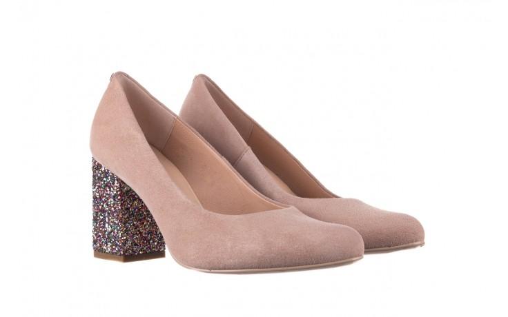 Czółenka bayla-056 7063-140 beż glitter, skóra naturalna  - zamszowe - szpilki - buty damskie - kobieta 1