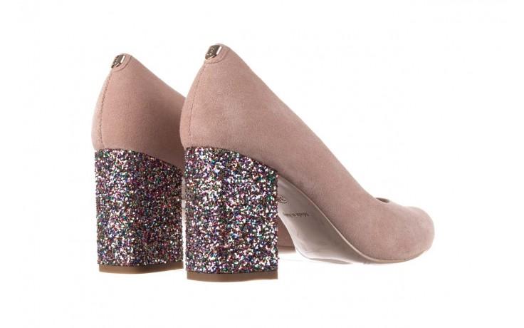 Czółenka bayla-056 7063-140 beż glitter, skóra naturalna  - zamszowe - szpilki - buty damskie - kobieta 3