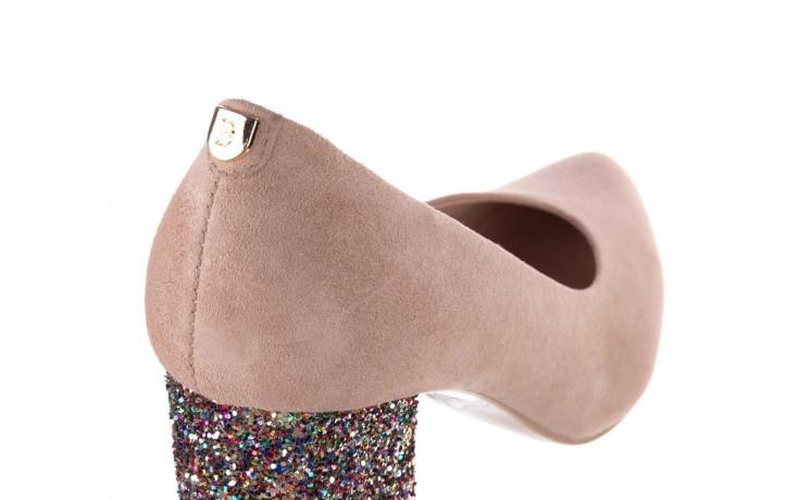 Czółenka bayla-056 7063-140 beż glitter, skóra naturalna  - zamszowe - szpilki - buty damskie - kobieta 5
