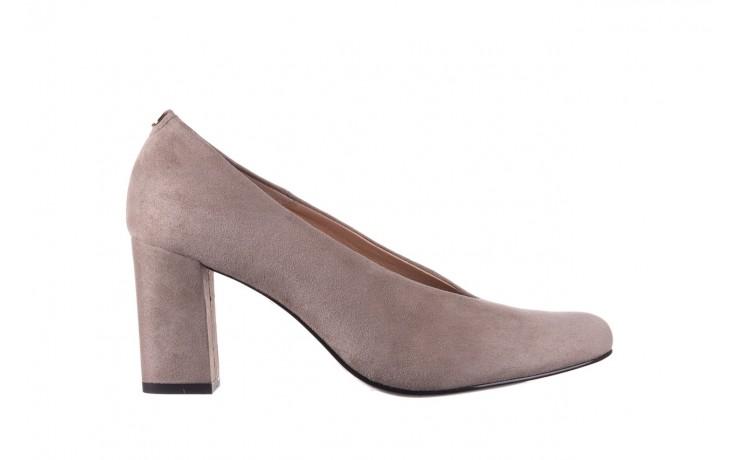 Czółenka bayla-056 9227-1318 szary zamsz, skóra naturalna  - zamszowe - czółenka - buty damskie - kobieta