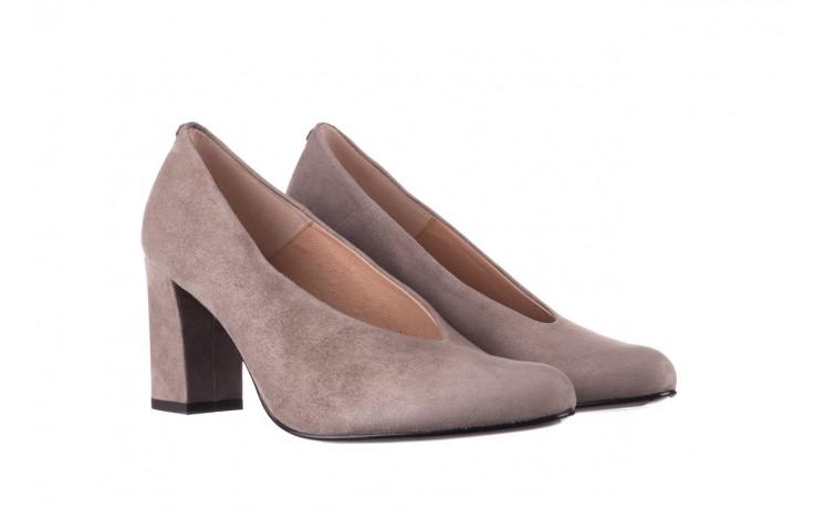 Czółenka bayla-056 9227-1318 szary zamsz, skóra naturalna  - zamszowe - czółenka - buty damskie - kobieta 1