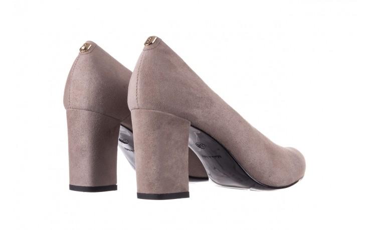Czółenka bayla-056 9227-1318 szary zamsz, skóra naturalna  - zamszowe - czółenka - buty damskie - kobieta 3