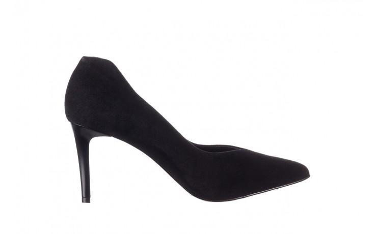 Szpilki bayla-056 9225-21 czarny zamsz, skóra naturalna  - do szpica - szpilki - buty damskie - kobieta