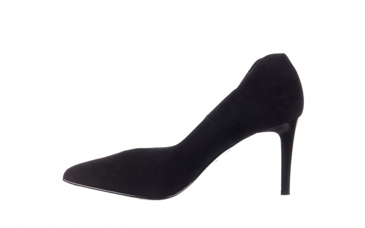Szpilki bayla-056 9225-21 czarny zamsz, skóra naturalna  - do szpica - szpilki - buty damskie - kobieta 2