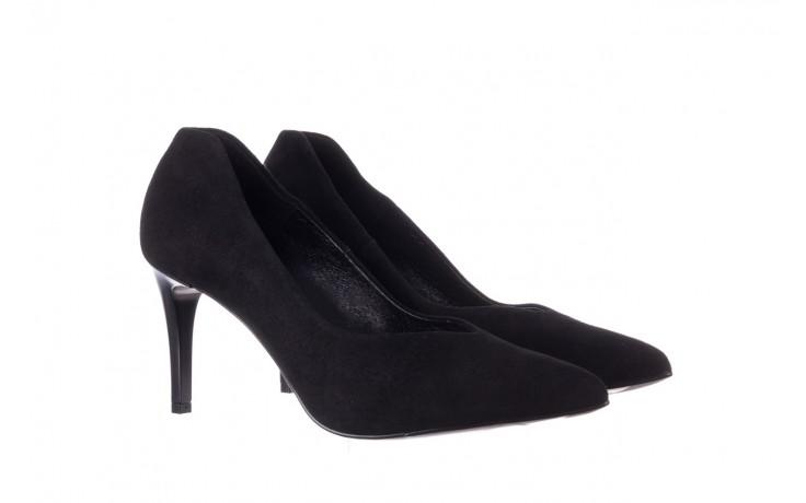 Szpilki bayla-056 9225-21 czarny zamsz, skóra naturalna  - do szpica - szpilki - buty damskie - kobieta 1