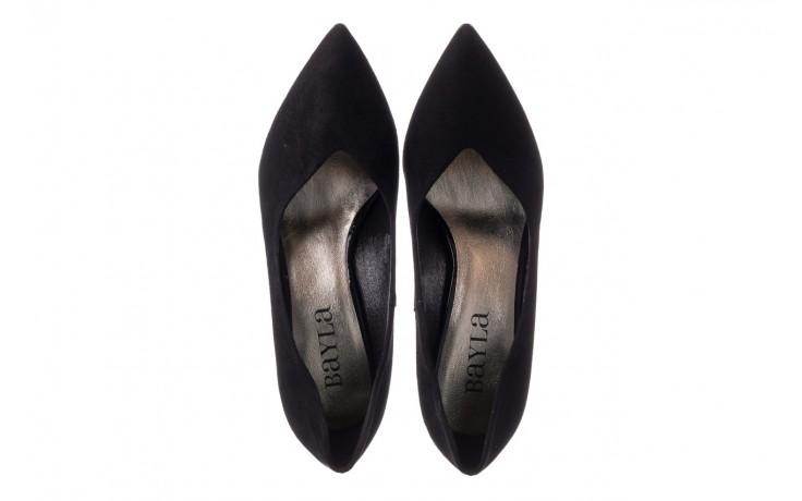 Szpilki bayla-056 9225-21 czarny zamsz, skóra naturalna  - do szpica - szpilki - buty damskie - kobieta 4
