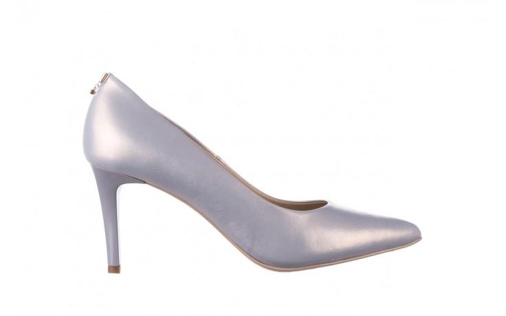 Czółenka bayla-056 7064-1448 szary perła 20, skóra naturalna  - szpilki - buty damskie - kobieta