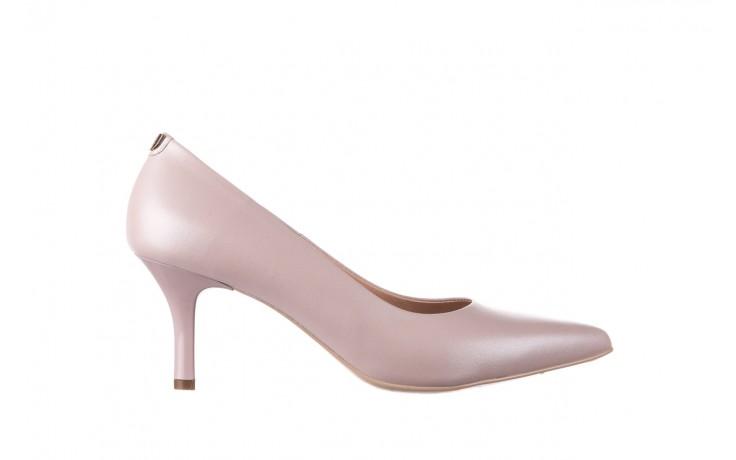 Czółenka bayla-056 9117-1460 róż perła, skóra naturalna  - skórzane - szpilki - buty damskie - kobieta