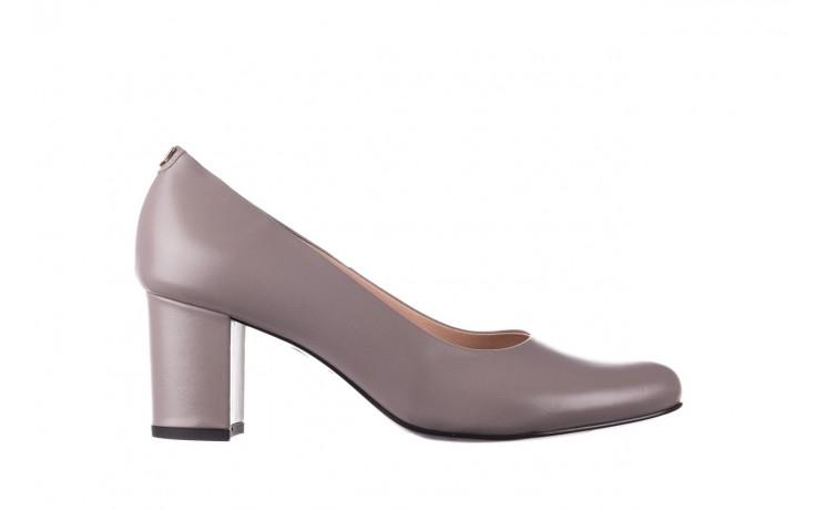 Czółenka bayla-056 9222-700 popiel, skóra naturalna  - skórzane - szpilki - buty damskie - kobieta