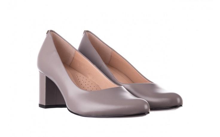 Czółenka bayla-056 9222-700 popiel, skóra naturalna  - skórzane - szpilki - buty damskie - kobieta 1