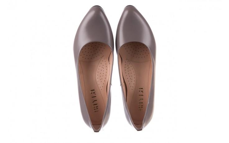 Czółenka bayla-056 9222-700 popiel, skóra naturalna  - skórzane - szpilki - buty damskie - kobieta 4