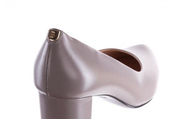 Czółenka bayla-056 9222-700 popiel, skóra naturalna  - skórzane - szpilki - buty damskie - kobieta 5