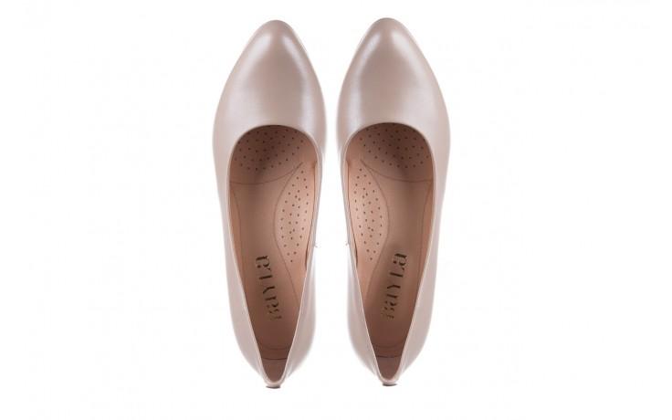 Czółenka bayla-056 9214-1459 beż perła, skóra naturalna  - czółenka - buty damskie - kobieta 4