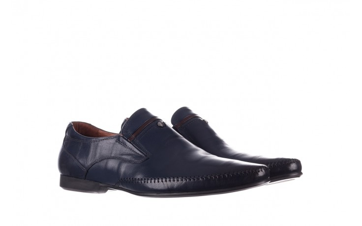 Mokasyny brooman 17931-151h677 niebieski, skóra naturalna  - mokasyny i espadryle - buty męskie - mężczyzna 1