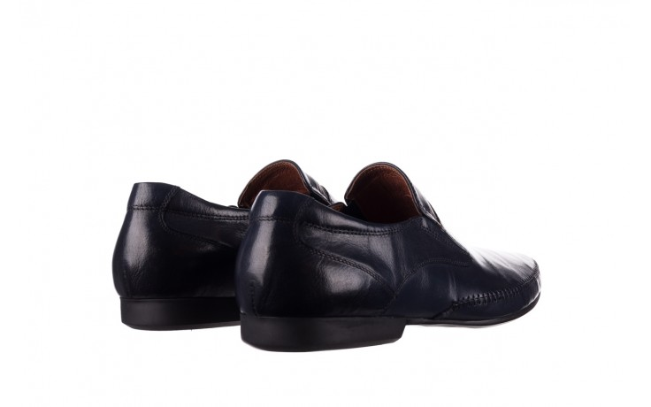 Mokasyny brooman 17931-151h677 niebieski, skóra naturalna  - mokasyny i espadryle - buty męskie - mężczyzna 3