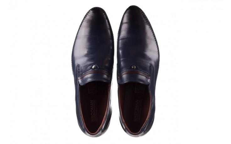Mokasyny brooman 17931-151h677 niebieski, skóra naturalna  - mokasyny i espadryle - buty męskie - mężczyzna 4