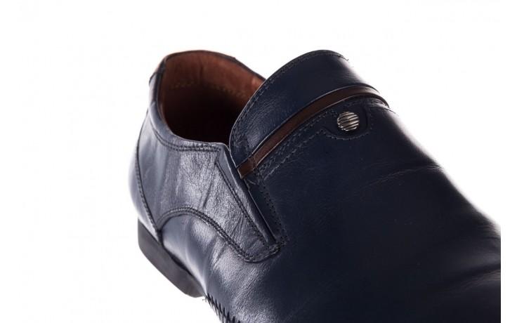 Mokasyny brooman 17931-151h677 niebieski, skóra naturalna  - mokasyny i espadryle - buty męskie - mężczyzna 6