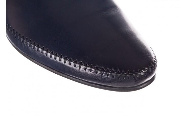 Mokasyny brooman 17931-151h677 niebieski, skóra naturalna  - mokasyny i espadryle - buty męskie - mężczyzna 5