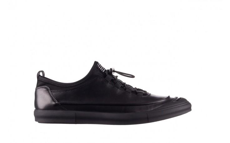 Trampki brooman b55117-1 czarny, skóra naturalna  - niskie - trampki - buty męskie - mężczyzna