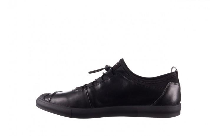 Trampki brooman b55117-1 czarny, skóra naturalna  - niskie - trampki - buty męskie - mężczyzna 2
