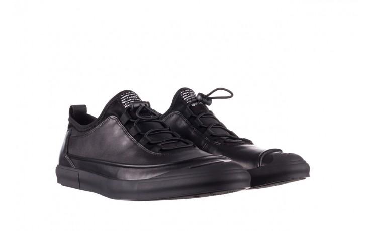 Trampki brooman b55117-1 czarny, skóra naturalna  - niskie - trampki - buty męskie - mężczyzna 1