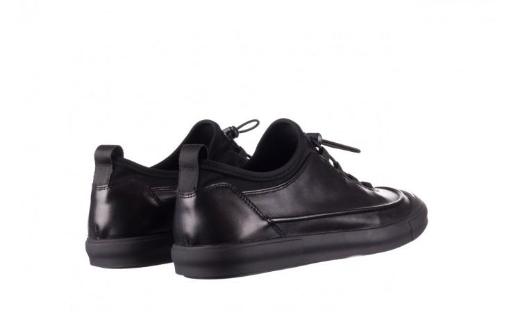 Trampki brooman b55117-1 czarny, skóra naturalna  - niskie - trampki - buty męskie - mężczyzna 3