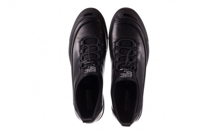 Trampki brooman b55117-1 czarny, skóra naturalna  - niskie - trampki - buty męskie - mężczyzna 4