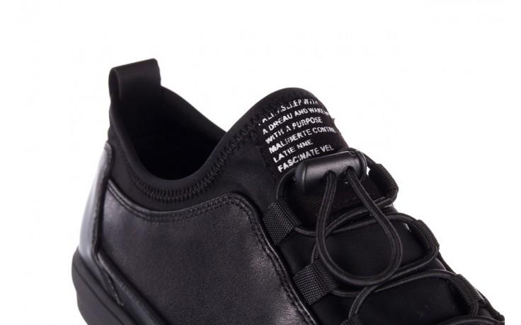 Trampki brooman b55117-1 czarny, skóra naturalna  - niskie - trampki - buty męskie - mężczyzna 7