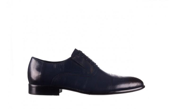 Półbuty brooman ja190-708a-j15 niebieski, skóra naturalna  - półbuty - buty męskie - mężczyzna