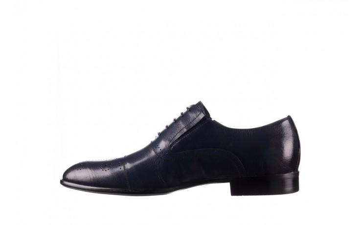 Półbuty brooman ja190-708a-j15 niebieski, skóra naturalna  - półbuty - buty męskie - mężczyzna 2