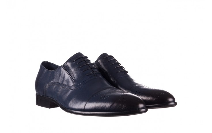 Półbuty brooman ja190-708a-j15 niebieski, skóra naturalna  - półbuty - buty męskie - mężczyzna 1